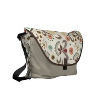 Wired Flower Pattern Courier Bags from Zazzle.com