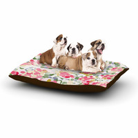 "Matthias Hennig ""Soft Dots"" Pink Floral Dog Bed"