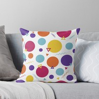 'shapes' Throw Pillow by KandM