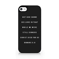 But God Shows His Love In That While We Were Still Sinners Christ Died For Us - Bible Verses - Bible Quotes - Bible - Inspirational Quotes - iPhone 6/6S Black Case (C) Andre Gift Shop