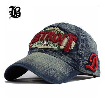 New Fashion Cowboy Baseball Cap Lining Fall Sanpback Hats For Men And Women Fitted Denim Jeans Hip Hop