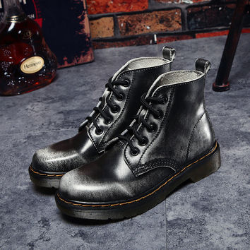 Hot Deal On Sale Couple Leather Vintage Boots [9252880396]