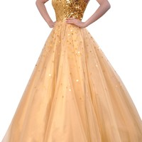 Tulle Natrual Strapless Sweetheart Ball Gown Quinceanera Dress