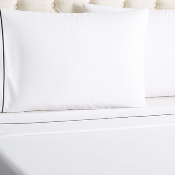 Frette, Kg 1 Bourdon Bedset, White/ Gray, Sheet Sets