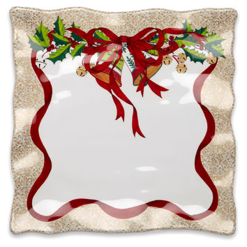 Holiday Ruffle Square Platter, Serving Plates & Platters