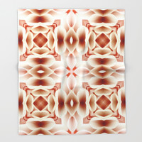 Red Armonies Throw Blanket by Octavia Soldani | Society6