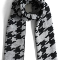 Houndstooth My Love Scarf in Grey