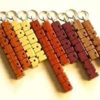 SHOP SPECIAL 10 Exotic Wood Name MiniTags Carved and Shipped within 3 by DustyNewtKeychains