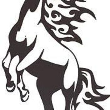 Horse Mustang in Flames wall art decal