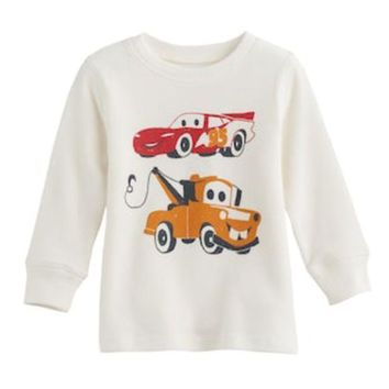 Disney / Pixar Cars 3 Baby Boy Lightning Mcqueen & Mater Thermal Tee By Jumping Beans? | Null