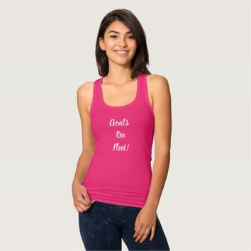 Goals on Fleet tank top
