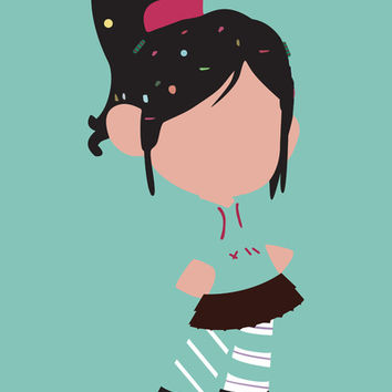 Vanellope von Schweetz - Wreck it Ralph Art Print Promoters
