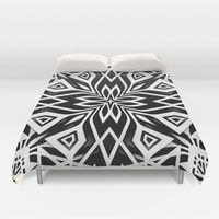 Black White | Leyana  Duvet Cover by Webgrrl