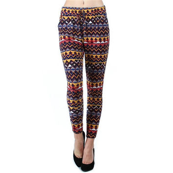 Printed Semi-Harem Pants