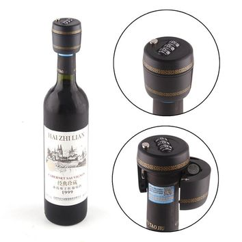 Plastic bottle password wine bottle stopper