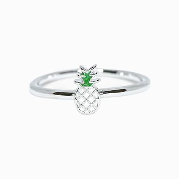 Enamel Pineapple Ring