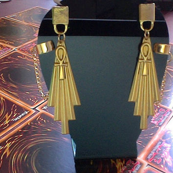 Atem Atemu Yugioh YuGiOh Cosplay Earrings Ancient by ArtandSymbols