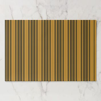 Orange and Black Stripes Placemat