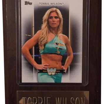 "Torrie Wilson 4"" x 6"" WWE Women's Legend Wrestling Plaque"