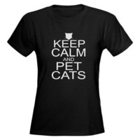 Keep Calm and Pet Cats Tee on CafePress.com