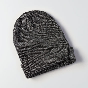 AE Metallic Beanie, True Black