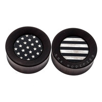 "USA Stars & Stripes Katalox Wood Plugs (1 1/8"") #7629"