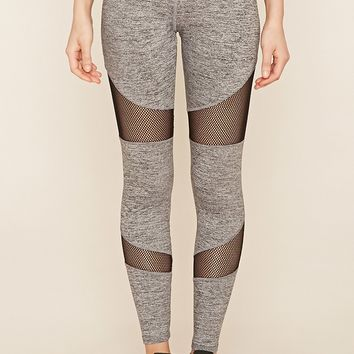 Active Marled Mesh Leggings