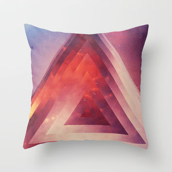 Triangled Too Throw Pillow by DuckyB (Brandi)