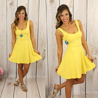 Seize the Day Dress in Yellow