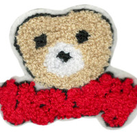 ON SALE 15% OFF Large Chenille Varsity Teddy Bear Head Patch 9cm