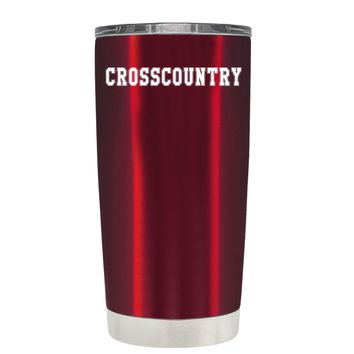 TREK Cross Country on Translucent Red 20 oz Tumbler Cup
