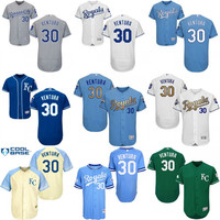 2017 new #30 Yordano Ventura Authentic Royals Jersey , Men's Kansas City Royals Flexbase Collection baseball jersey stitched size S-4XL