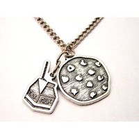 """Cookies and Milk Charms 18"""" Fashion Necklace"""