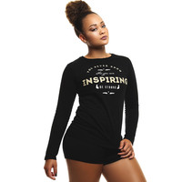 You Never Know Who You Are Inspiring-Be Strong Fitted L/S Tee