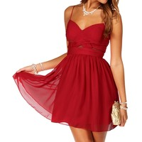 Sale- Cardinal Red Short Homecoming Dress