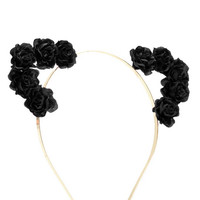 Floral Cat Ears Headband - Hair Accessories - 1000173410 - Forever 21 UK