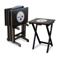 Pittsburgh Steelers TV Tray Table Set (Stl Team)