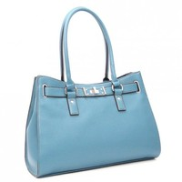 Tosca Belted Faux Leather Satchel Bag