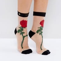 Stance The Rose Sheer Sock at asos.com