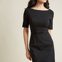 Ritzy Wishes Sheath Dress in Black