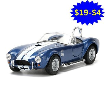2018 1:32 Alloy Diecast Metal Convertible Car Model Toy Shelby Cobra Simulated Cabriolet Pull Back Boy Cars Kids Toys