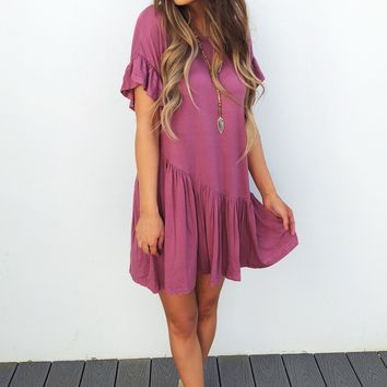 RESTOCK: Stay Comfy Dress: Purple