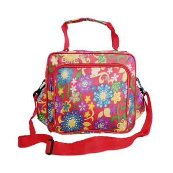 Factory direct outdoor picnic cooler bag picnic bag Korean fashion color picnic cooler bag Red