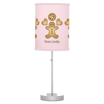 Customizable Cute Kawaii Pink Desk Lamps for Girl's Room: Girl Birthday Gift Idea: Team Cookie