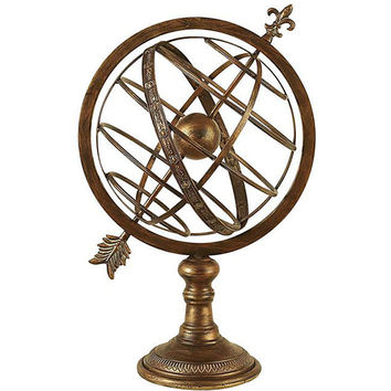 Engraved Metal Armillary Nautical Sphere Globe | Overstock.com