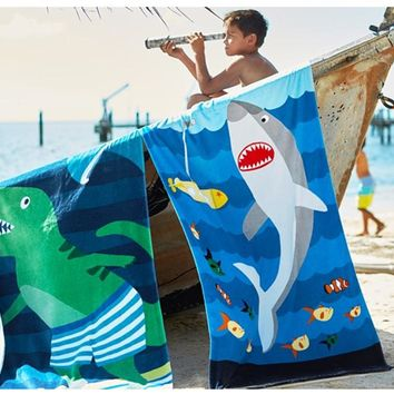 HAKOONA Cotton Large Cartoon Animal Printed Bath Towel Active Printing Water-Absorbent  Quick-Drying  Beach Towels  160*80cm