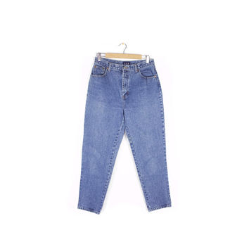 "90s gap high waisted jeans - vintage 1990s - tapered leg - high rise waist - womens size 12 //  29"" waist"