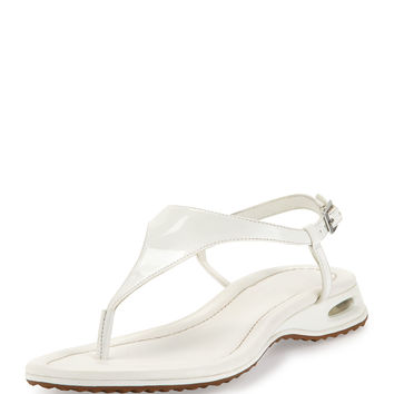 Air Bria Patent Thong Sandal, White - Cole Haan - White