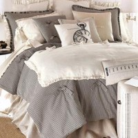 "French Laundry Home-""Ticking"" Bed Linens-Horchow"