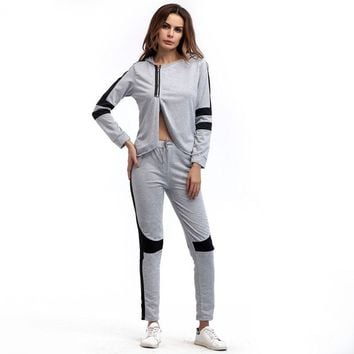 New Woman Tracksuits Set Pant Top Autunno Track Suit 2 Piece Clothing Set Women Top + Pants Suit Ladies Sexy Leisure